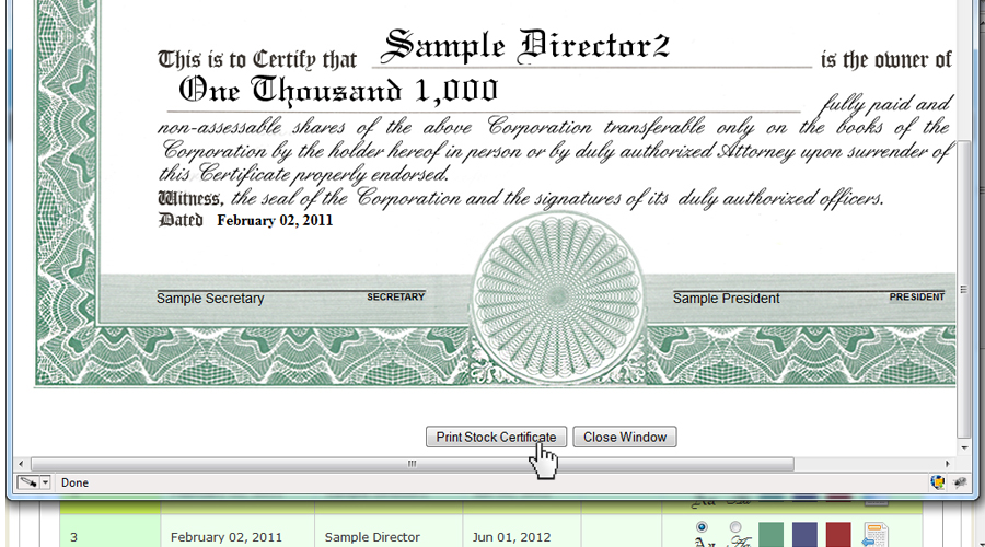 create printable certificate